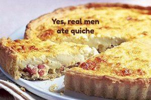 Ham and cheddar quiche