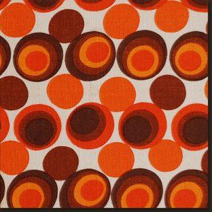 brown and orange print