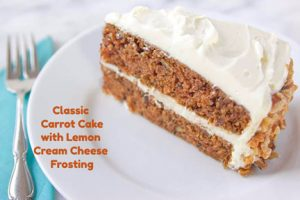 Classic Carrot Cake with Lemon Cream Cheese Frosting