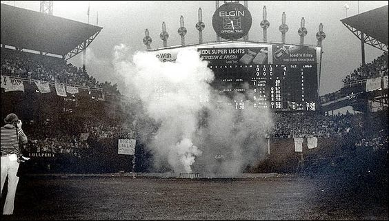 Disco Demolition NIght 1979 in Comiiskey Park