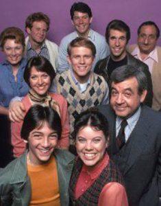 Cast of the TV sitcom Happy Days