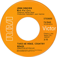 John Denver Take Me Home, Country Roads