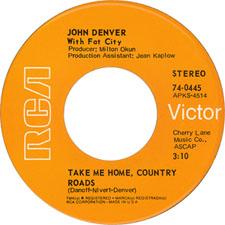 John Denver Take Me Home, Country Roads
